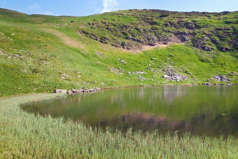 Alpien meer Nesamovyte op de zomerbergen royalty-vrije stock afbeelding
