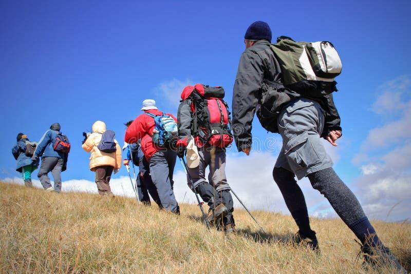Alpiene expeditie royalty-vrije stock foto