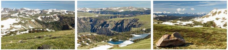 Alpiene het meercollage van toendrabeartooths stock afbeeldingen