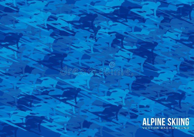 Alpiene het Ski?en vectorachtergrond royalty-vrije illustratie