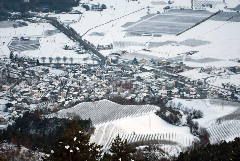 Alpiene Stad, Noordelijk Italië royalty-vrije stock afbeeldingen
