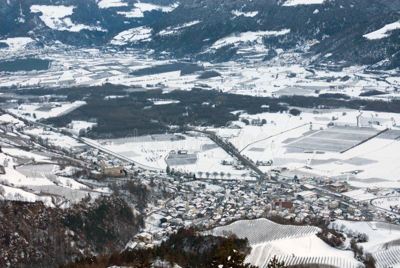 Alpiene Stad, Noordelijk Italië royalty-vrije stock foto