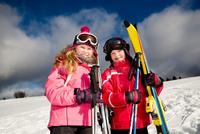 alpin滑雪 免版税库存图片