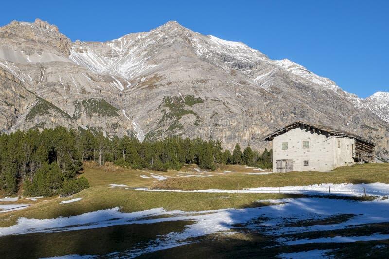 alpin chalet royaltyfri foto