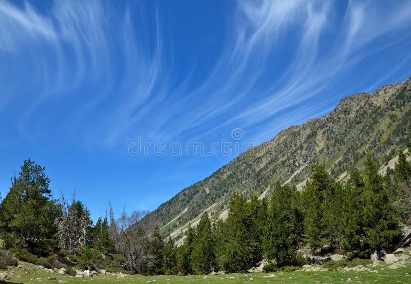 Alpin dal Vall-de-Madriu-Perafita-Claror royaltyfri fotografi