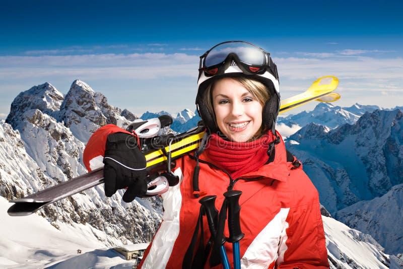 Alpin del esquí imagen de archivo libre de regalías