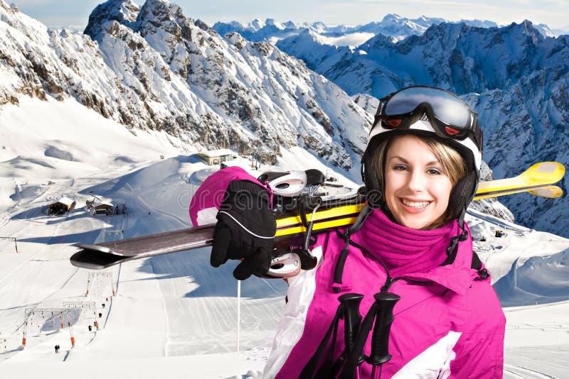 Alpin del esquí imágenes de archivo libres de regalías