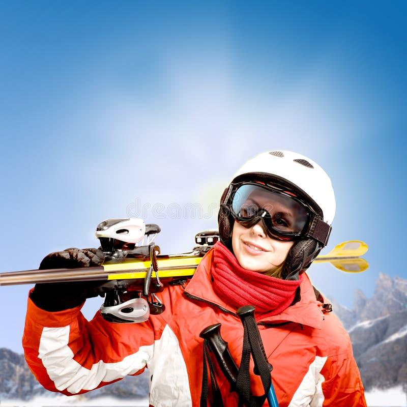 Alpin dello sci fotografia stock libera da diritti