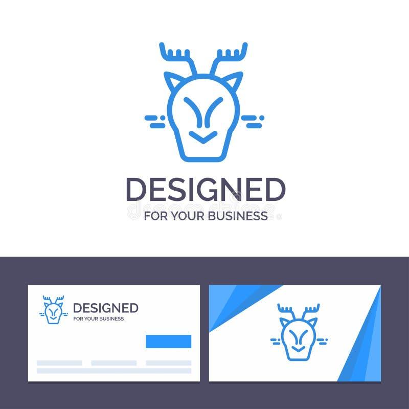 Alpin idérik mall för affärskort och logo, arktiskt, Kanada, renvektorillustration vektor illustrationer