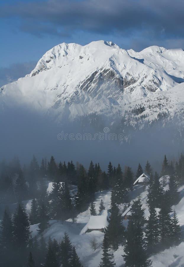 alpin kojasikt arkivbild