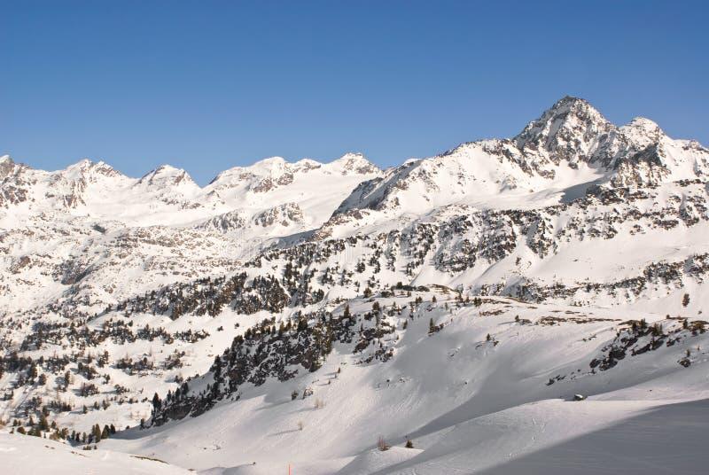 alpin liggandevinter royaltyfri fotografi