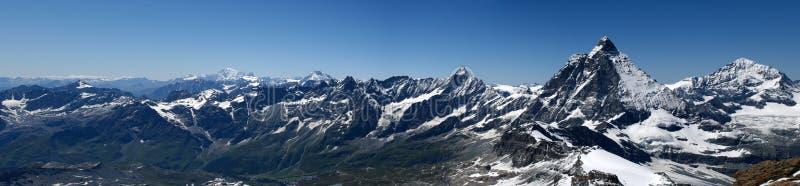 alpin panorama royaltyfri fotografi