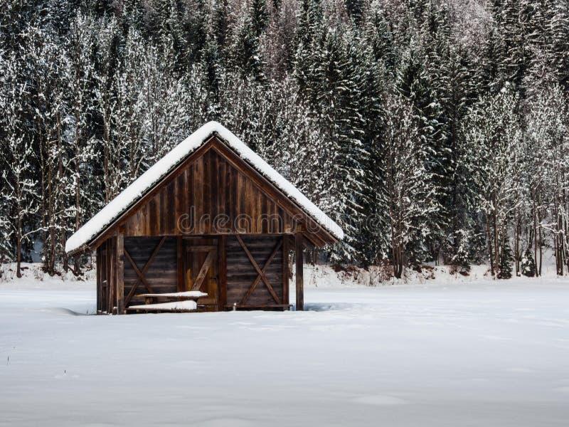 Alpin stuga royaltyfri fotografi
