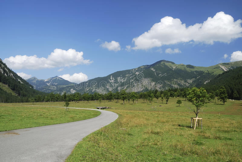 alpin väg arkivfoto