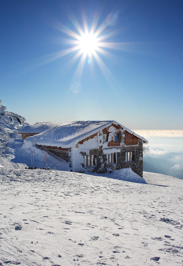 Download Alpine chalet stock image. Image of cleanness, cottage - 12780893
