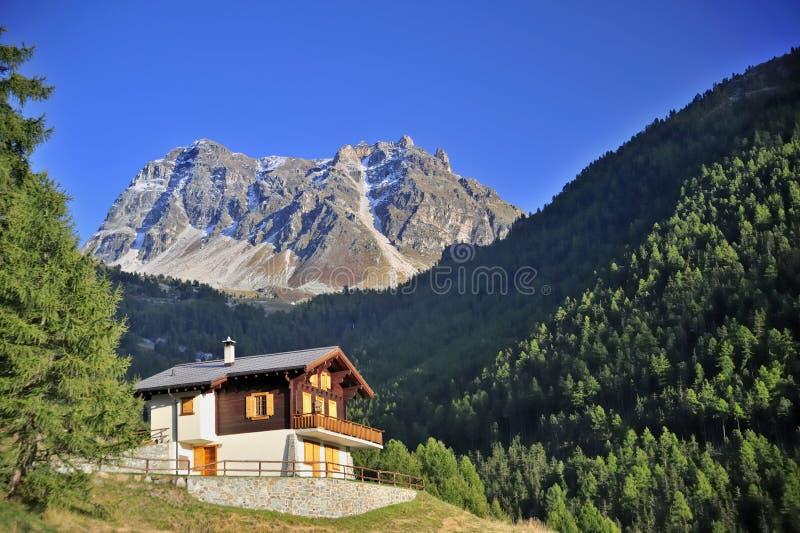 Download Alpine chalet stock image. Image of holiday, crag, horizontal - 9306453