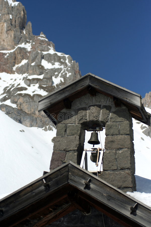 Alpine church stock image