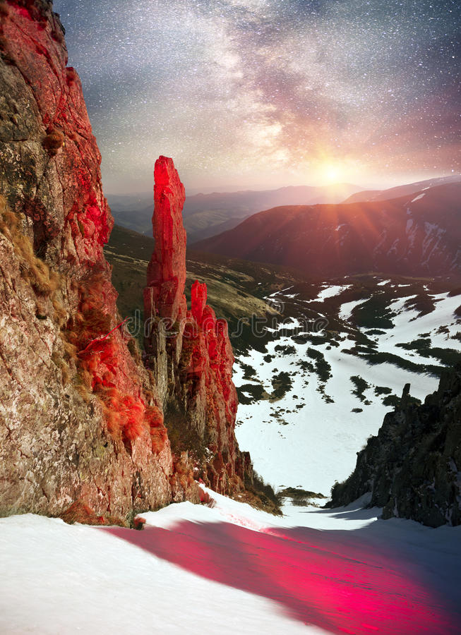 Free Alpine Cliff Blackrock Royalty Free Stock Photography - 78693367