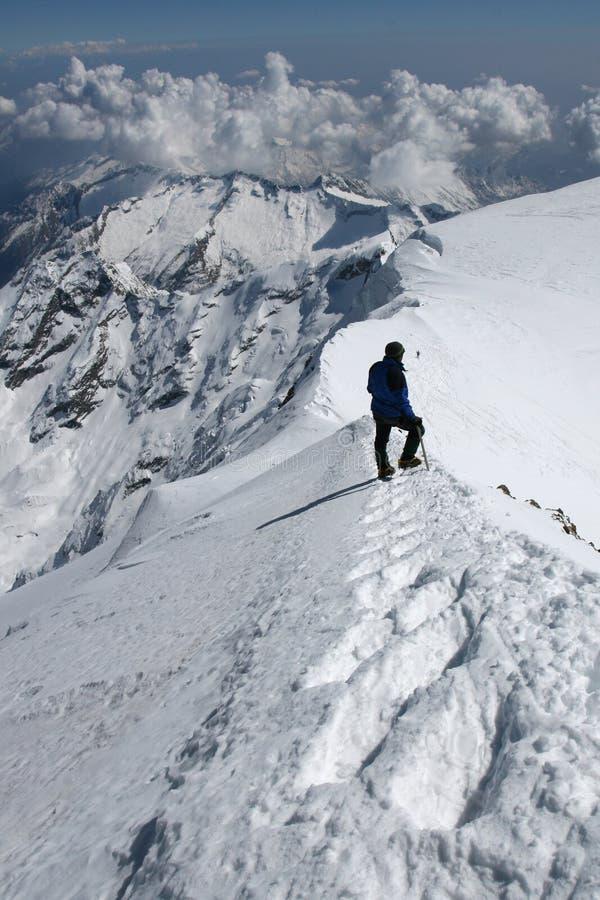 Alpine climbing royalty free stock image