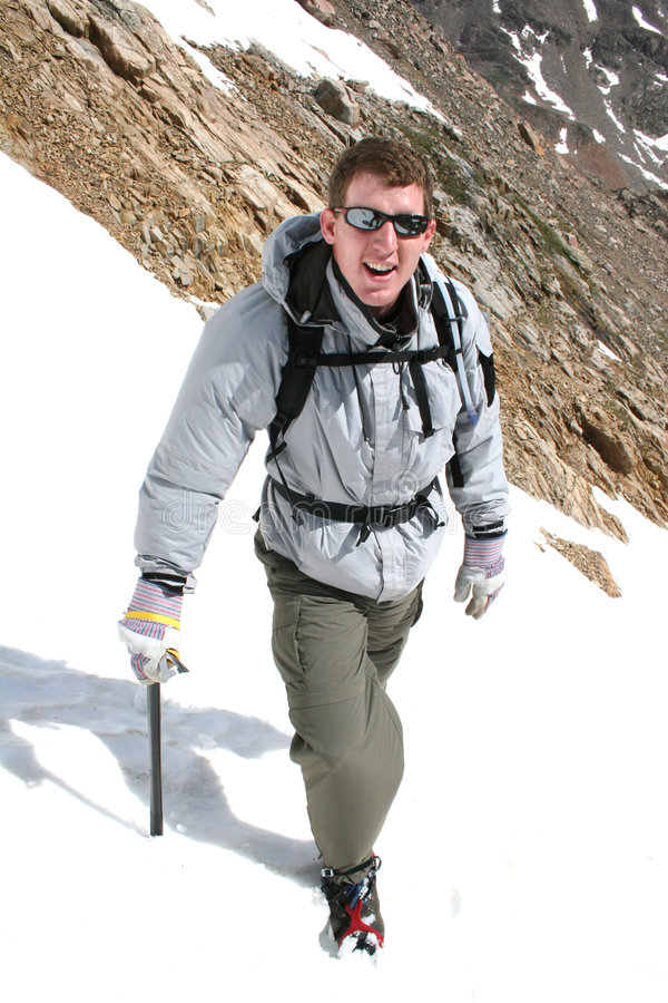 Download Alpine Climbing - Montana stock image. Image of boot, backpack - 176869