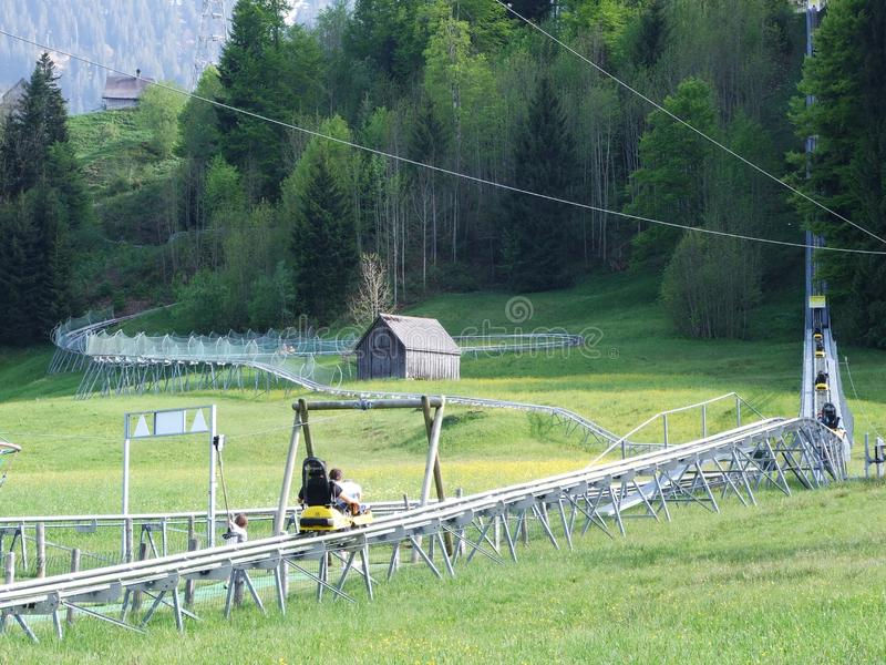Alpine Coaster at Jakobsbad - Canton of Appenzell Ausserrhoden royalty free stock photography
