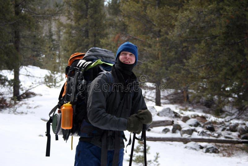 Alpine Hiker - Montana stock photo