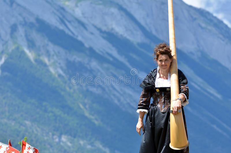 Download Alpine Horn Festival editorial photography. Image of alps - 26884272