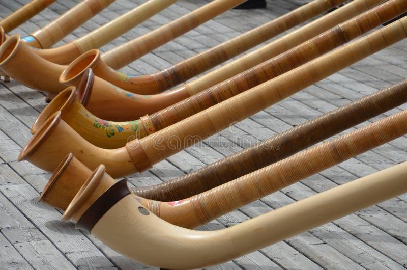 Alpine horns stock photography