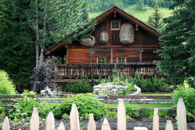 alpine house royalty free stock photography