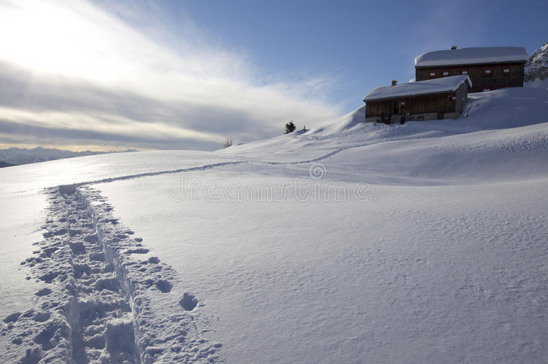 Download Alpine hut stock image. Image of frozen, wintertime, winter - 21997579