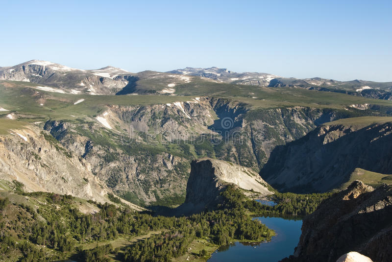 Alpine Lake. Along the Beartooth Highway stock images
