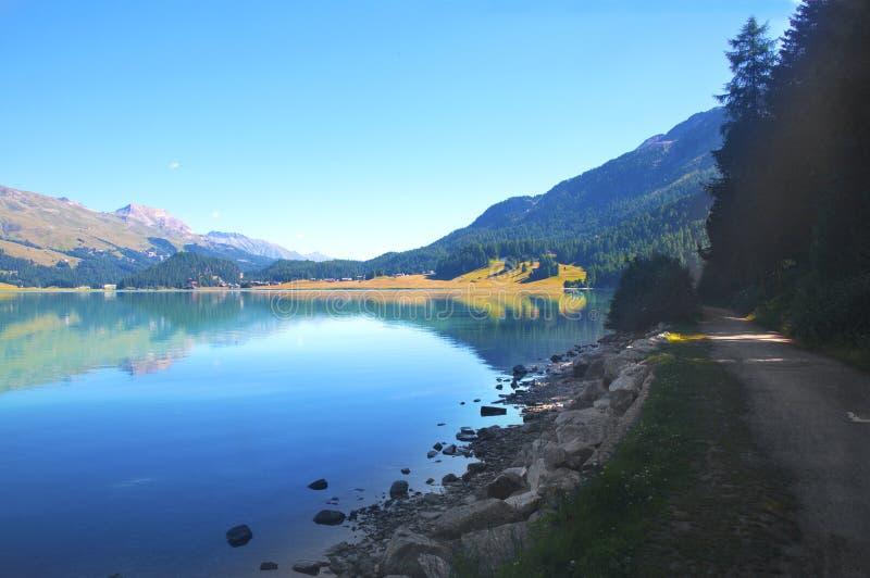 Download Alpine lake stock photo. Image of blue, mountains, fresh - 15462784