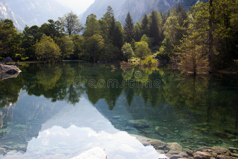 Download Alpine lake stock image. Image of serene, alps, range - 26570325