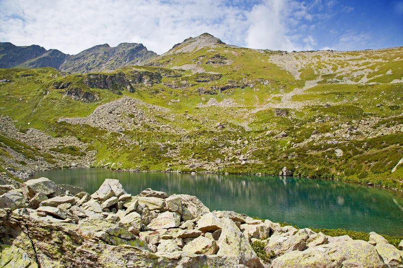 Download Alpine lake. stock image. Image of cold, outdoors, scenics - 29027549