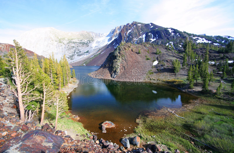 ALpine Lake. An alpine lake on the fringes of Yosemite Park, California royalty free stock photo