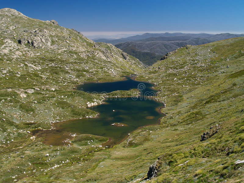 Alpine lake. In kosciuszko national park stock photos