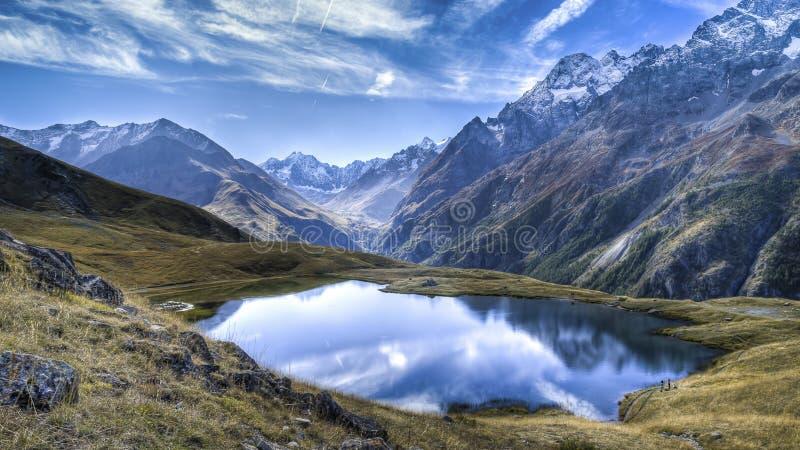 Alpine lake, Briancon K5 stock photo