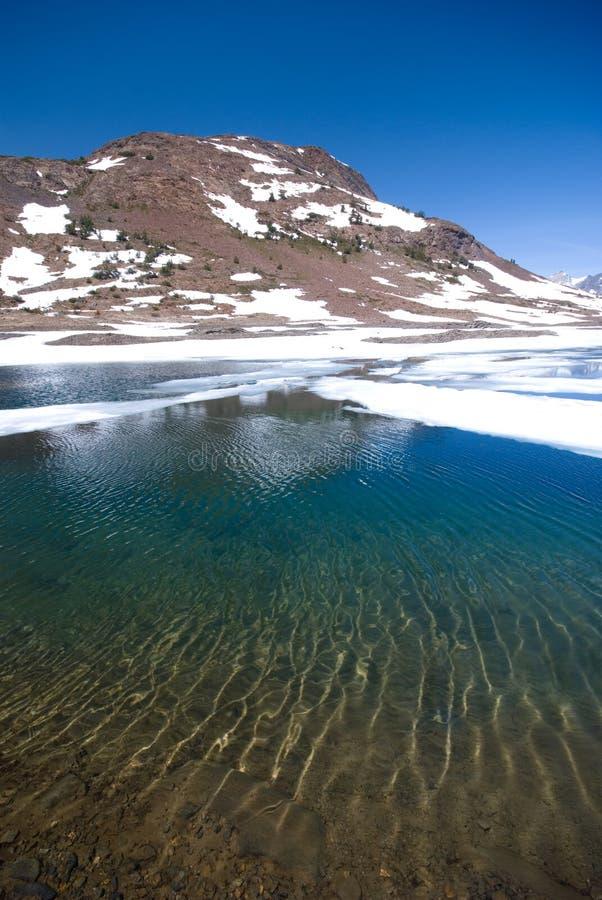 Alpine Lake in the High Sierra royalty free stock photo
