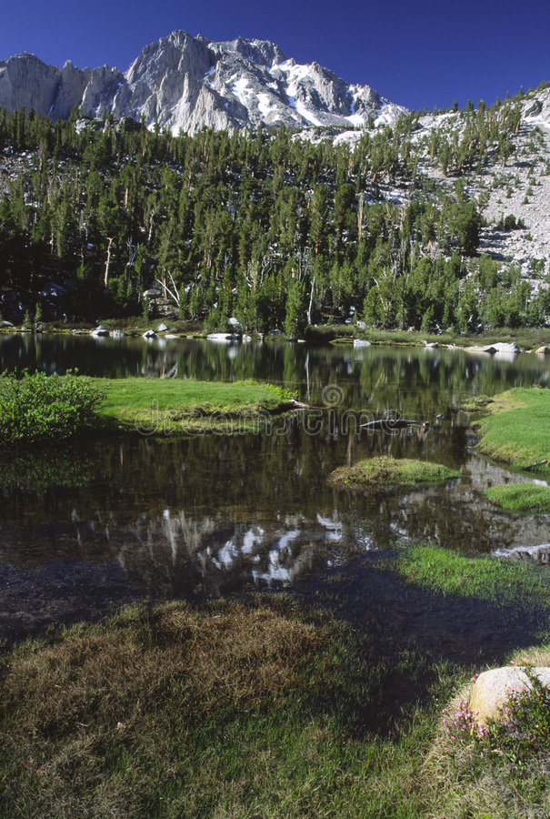 Download Alpine Lake Reflections In Sierra Nevada Stock Image - Image: 3840555