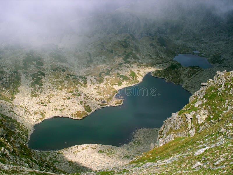 Alpine lake in Romania royalty free stock photos