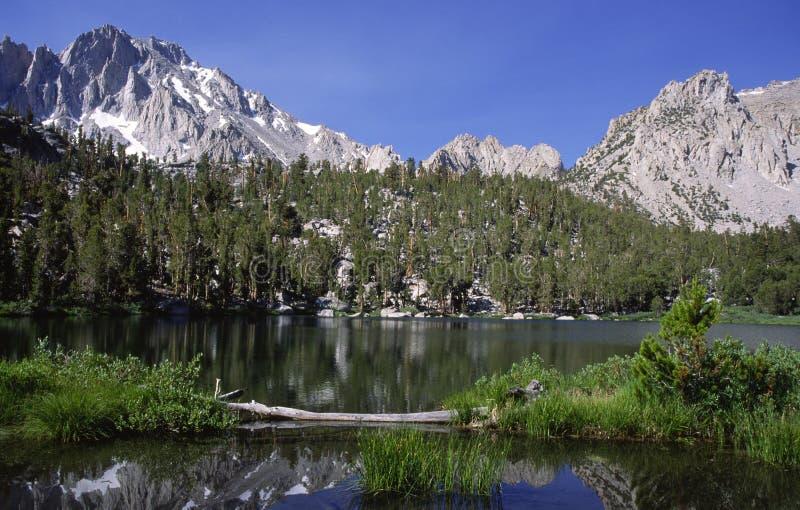 Alpine lake in Sierra Nevada royalty free stock photo
