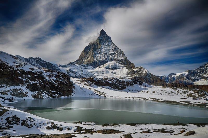 Alpine lake, Zermatt, Switzerland stock photos