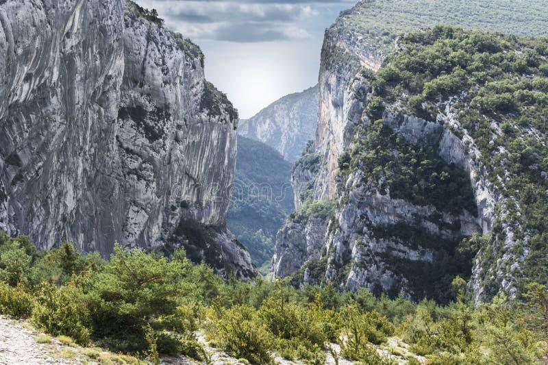 Alpine landscape in southeastern France. Alpine landscape of Alpes-de-Haute-Provence department in southeastern France stock photography