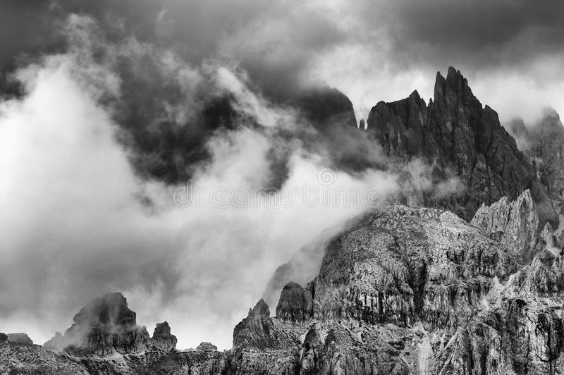 Alpine landscape in the Dolomites royalty free stock photo