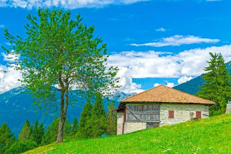 Alpine landscape in italian Dolomites, Italy royalty free stock images