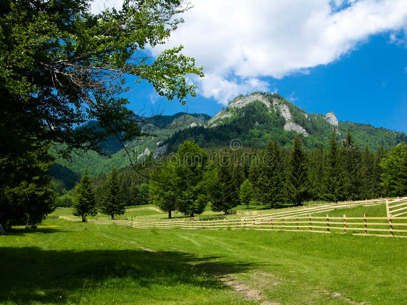Alpine landscape in Romania royalty free stock photography