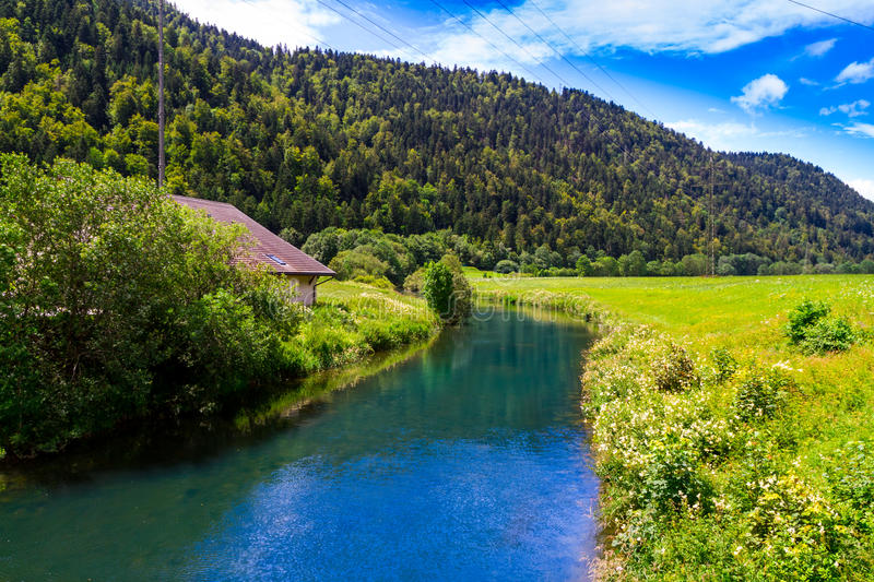 Alpine Landscape In Summer Stock Photography