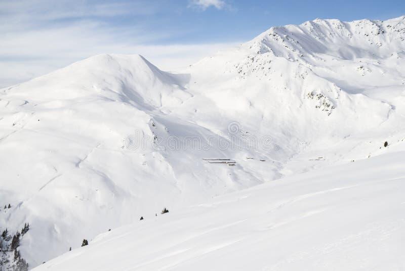 Alpine mountain landscape in winter. Top of Europe Austria stock image