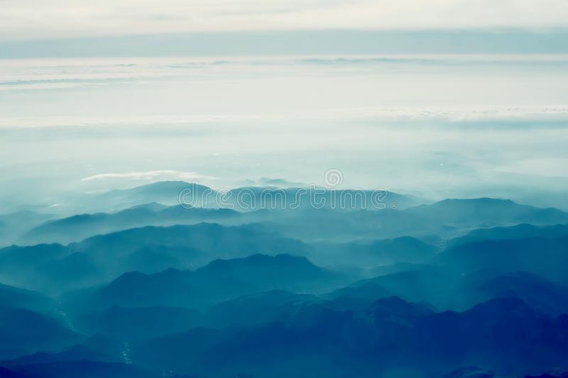 Alpine mountains. View above Alpine mountains. Nature mountain landscape royalty free stock images