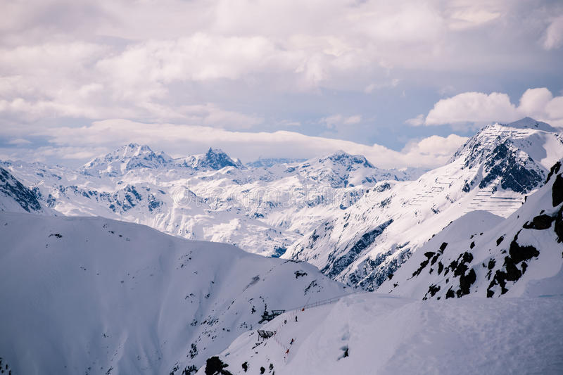 Overlooking Ischgl Ski Resort stock image